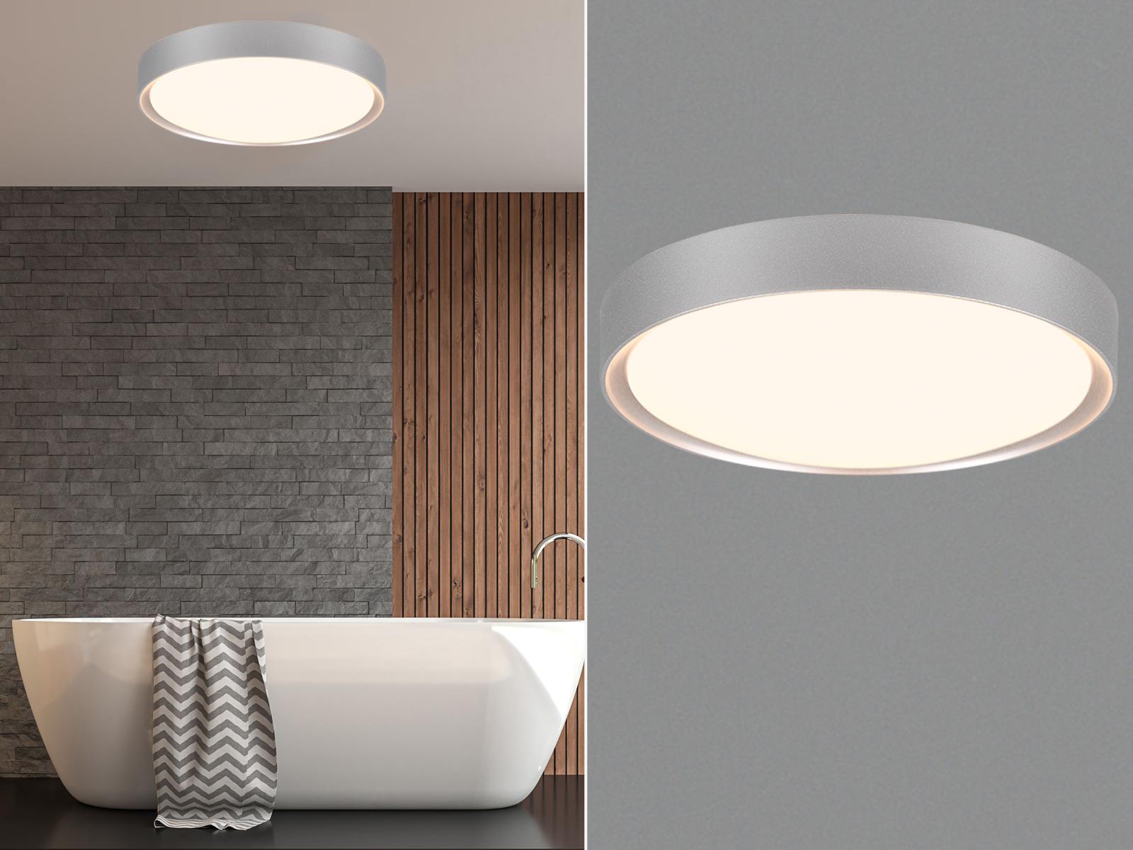 Led lampada da soffitto soffitto soffitto applique clarimo titanio