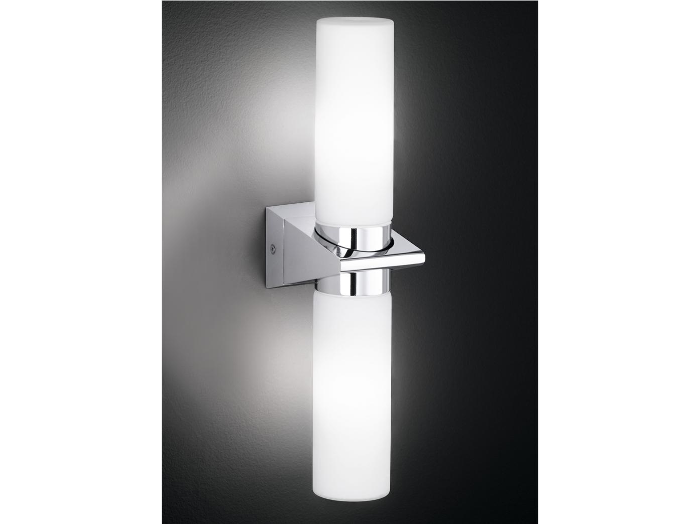 Lampada da parete parete parete lampada muro applique roto cromo