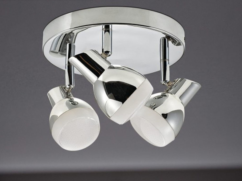 LED Deckenlampe // Strahler Chrom Action by Wofi 6-flg schwenkbar