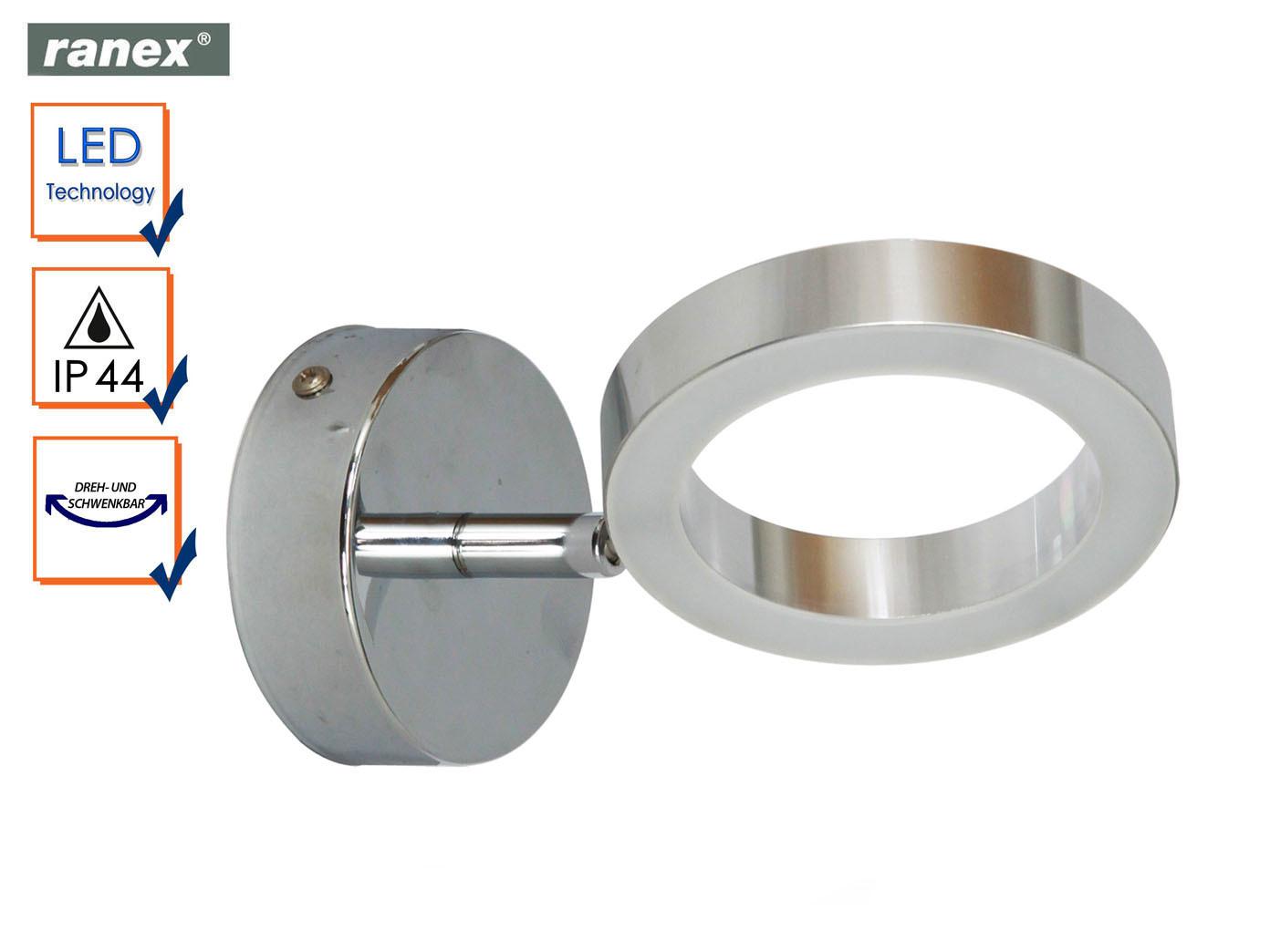 Details zu Moderne LED Wandleuchte ANZIO fürs Badezimmer, Spiegelleuchte  Bad schwenkbar