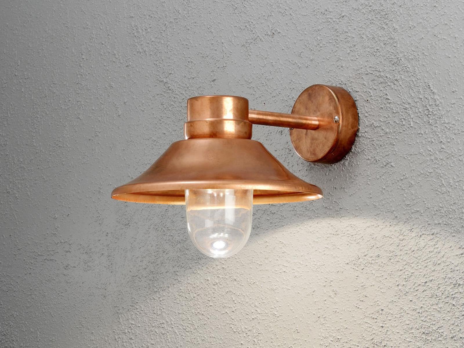 LED LED LED Außenwandleuchte Wandleuchte VEGA massives Kupfer dimmbar 700 Lm 3490b3