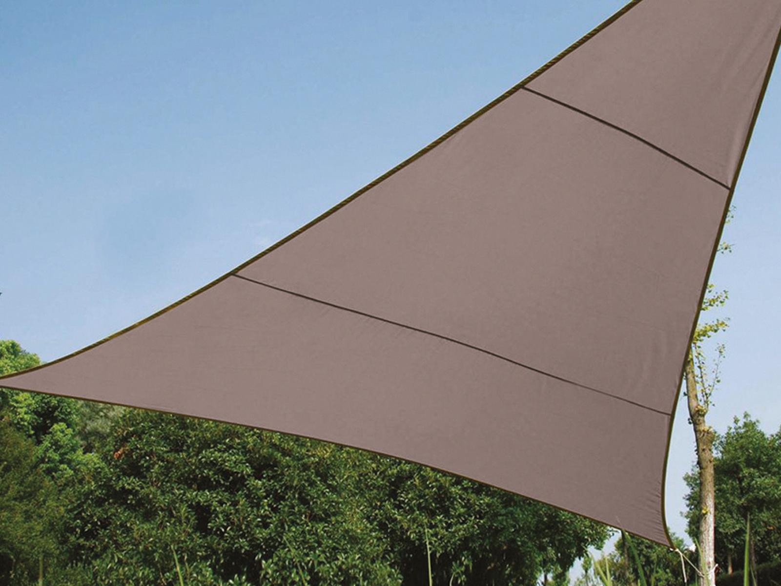 Sonnensegel Regenschutz PEREL, Braun Grau, 500 x 500 x 500 cm, Wasserabweisend | Zart  | Qualitativ Hochwertiges Produkt  | Qualitätsprodukte
