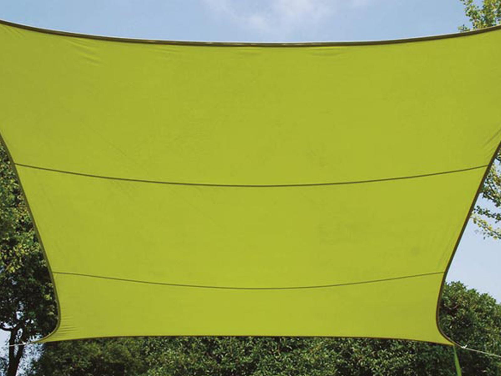 Sonnensegel Regenschutz PEREL, Lime green, 500 x 500 cm, Wasserabweisend