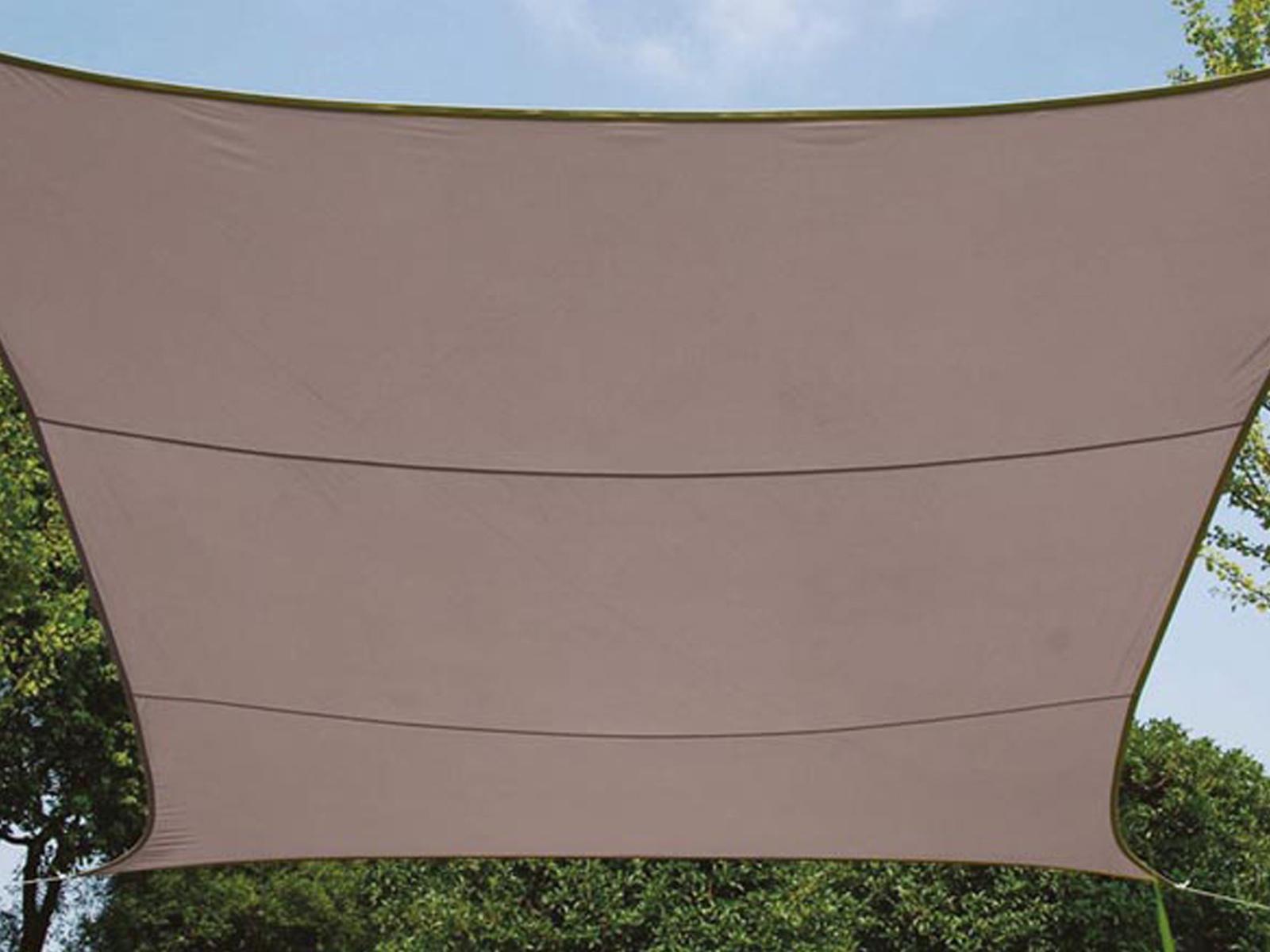 PARASOLE PROTEZIONE ANTIPIOGGIA Perel, Marronee Grigio, 500 x 500 cm, resistente all'acqua
