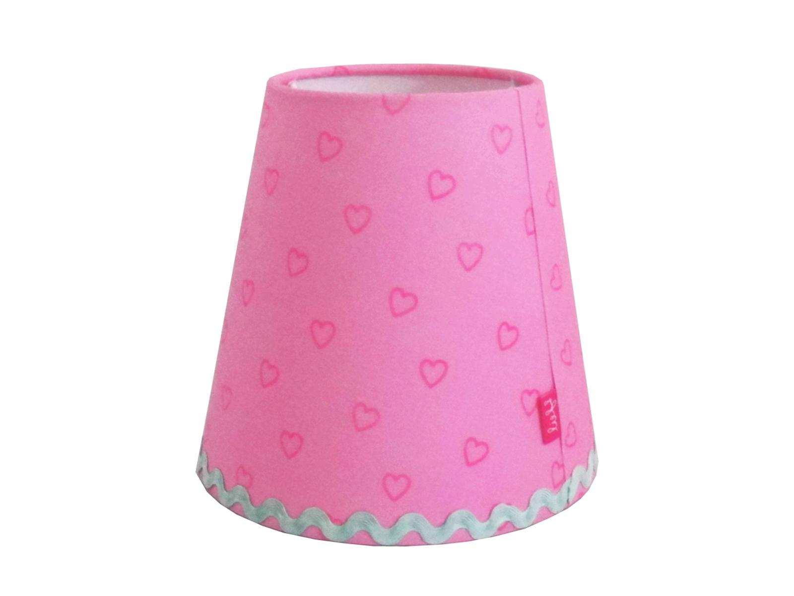 Lampenschirme Klein Kronleuchter ~ Lampenschirm rosa mit herzen für lief! kronleuchter und wandlampe
