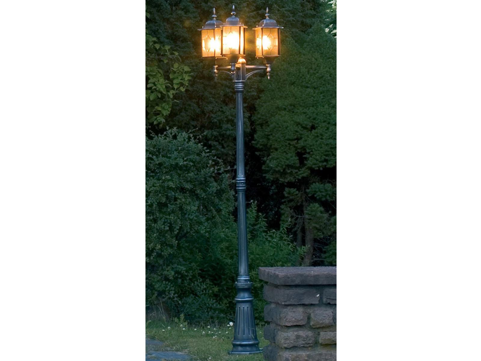 Konstsmide Strade Lanterna candelabro Milano Nero argentoo BLEIKRISTALL Lampada