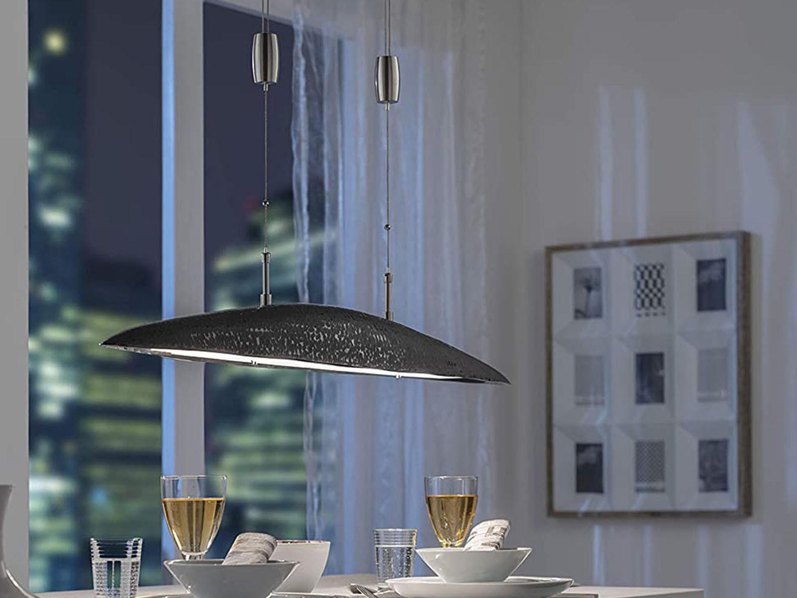Fischer LED Hängelampe SHINE-ALU braun höhenverstellbar Tunable Weiß dimmbar