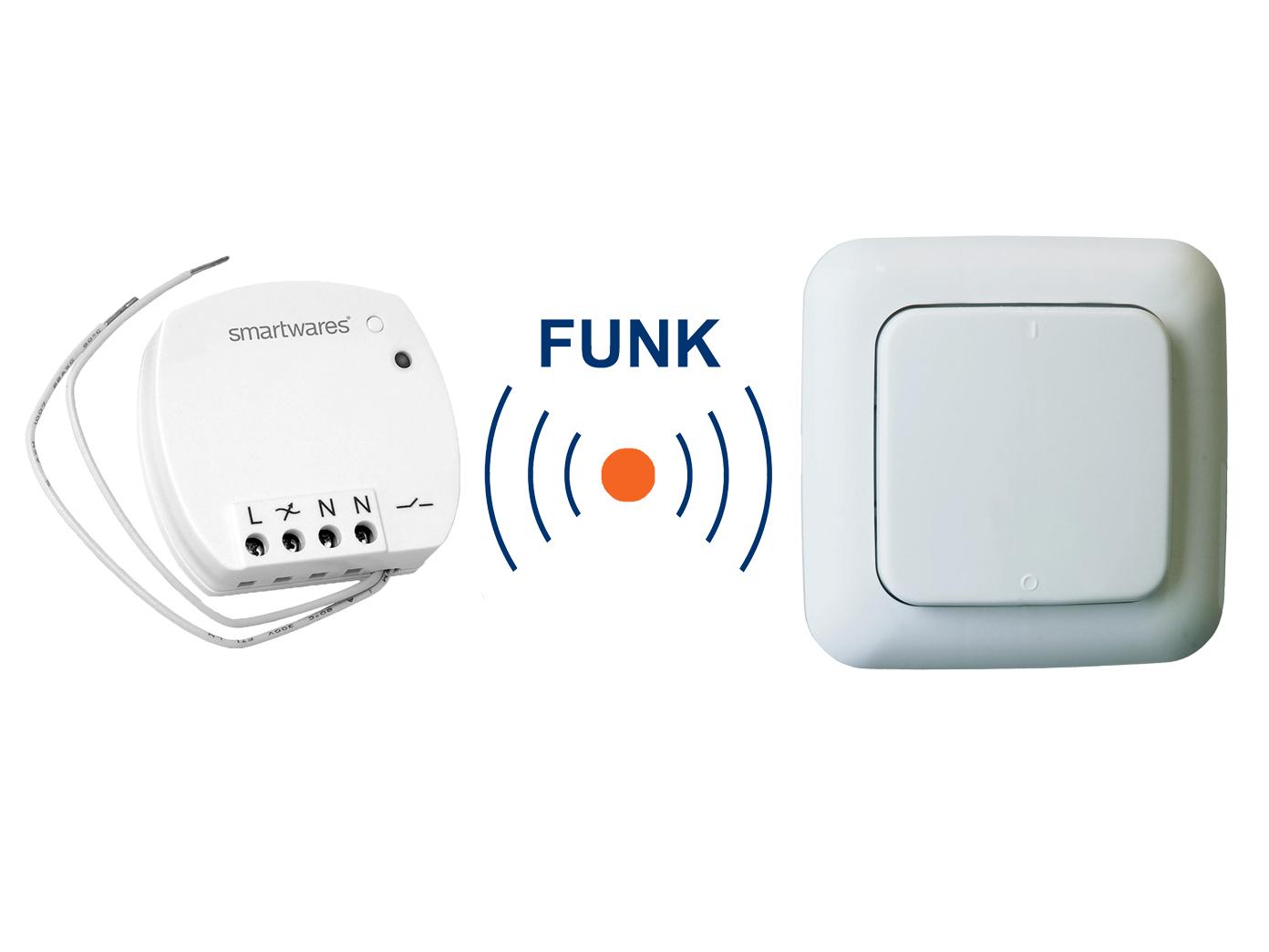 Favorit Funk Schalter Set = Mini Funk-Einbauschalter + Funk-Wandschalter HP39