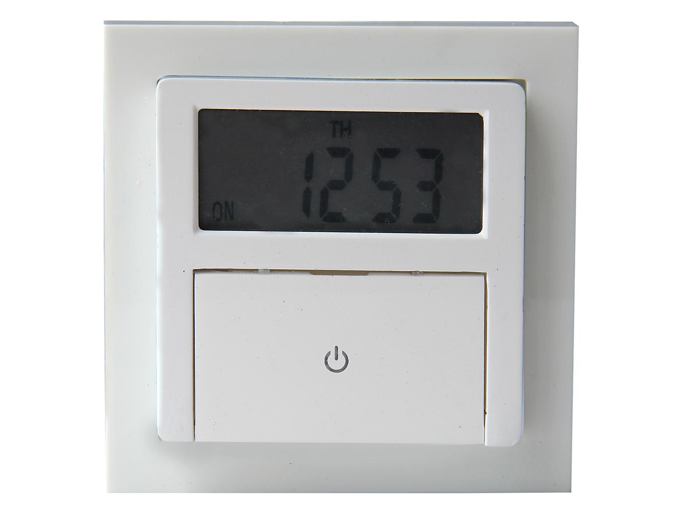 Wochenzeitschaltuhr Digital Unterputz Zeitschaltuhr mit Rahmen zum Einbau Timer 4