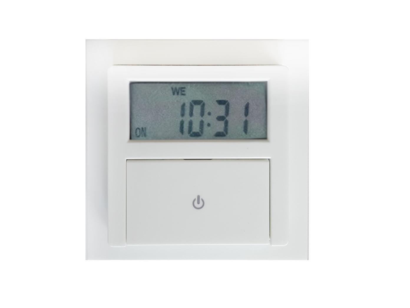 Wochenzeitschaltuhr Digital Unterputz Zeitschaltuhr mit Rahmen zum Einbau Timer 2