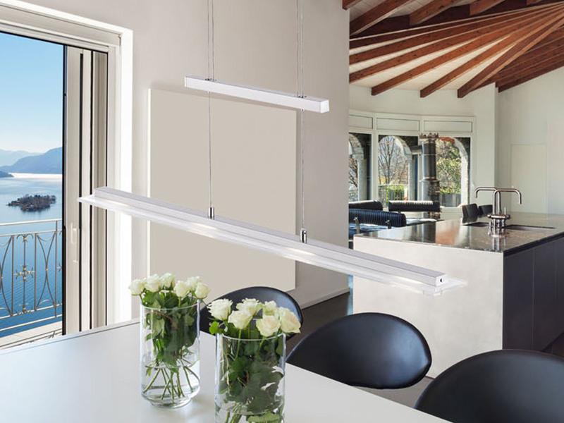LED Pendelleuchte dimmbar und höhenverstellbar mit Fernbedienung für Farbwechsel