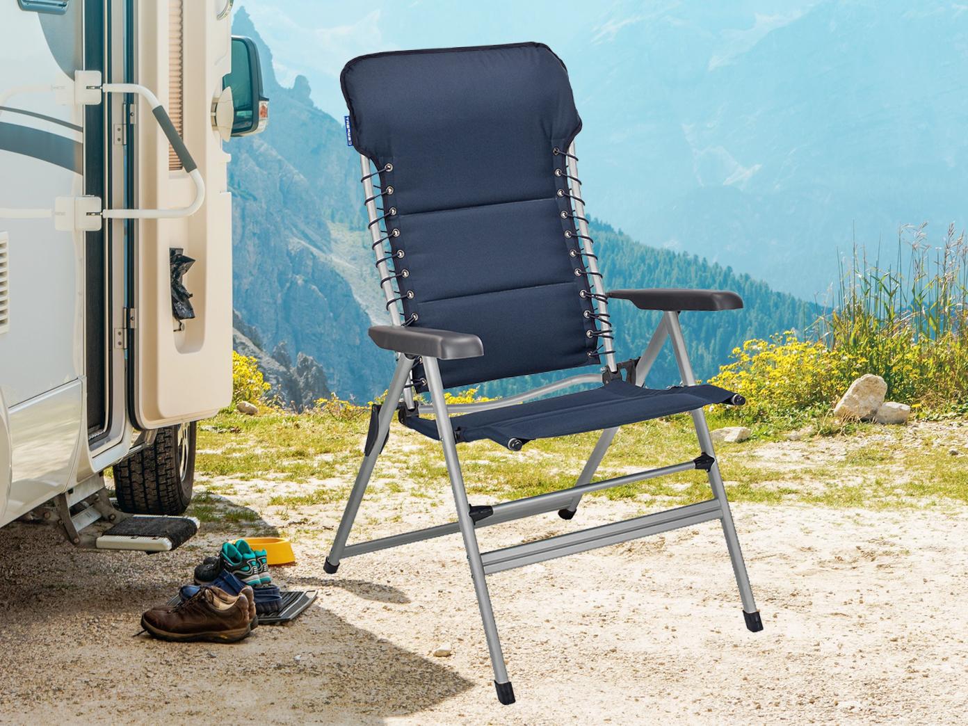 Xxl Stabiler Alu Campingstuhl Gepolstert Klappbar Leicht Camping Relaxsessel