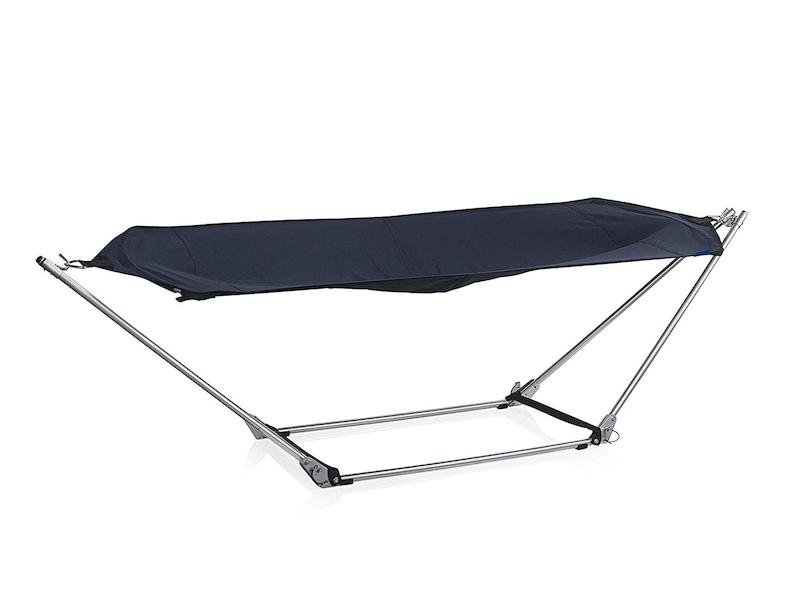 Faltbare Hängematte VENICE mit Ständer & Tragetasche Blau, Belastbarkeit: 150 kg