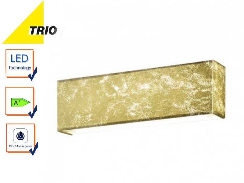 Flurlampe Uplight Downlight Trio LED Wandlampe LUGANO Stoff weiß mit Schalter