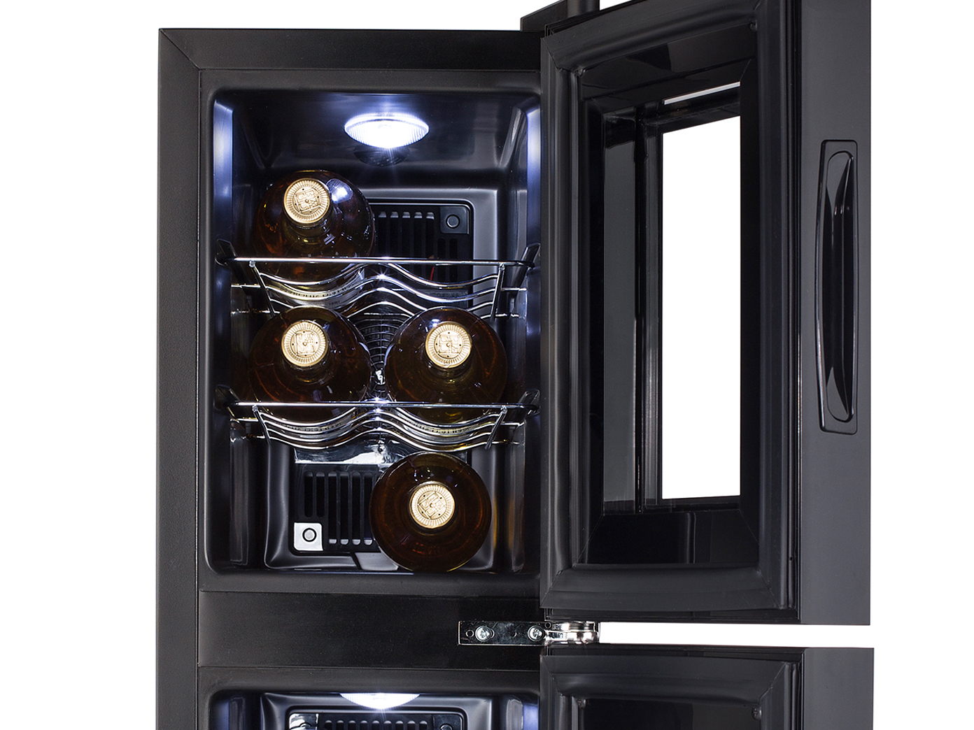 Weinkühlschrank 2 Zonen Für 12 Flaschen Weinklimaschrank  Weintemperierschrank 6 6 Von 6 Siehe Mehr