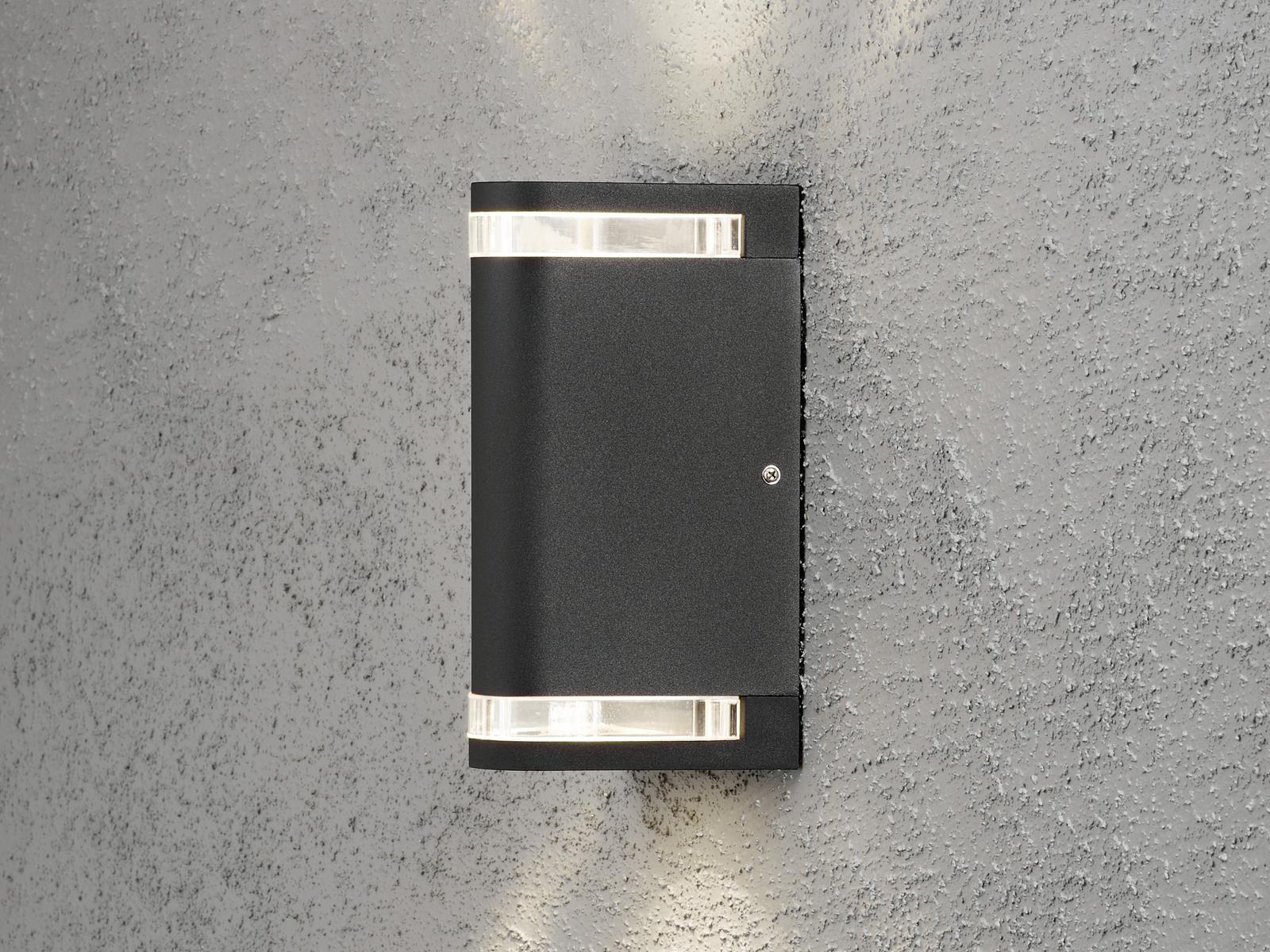Up-DOWN PARETE LAMPADA ALLUMINIO MODENA nero, gu10, gu10, gu10, altezza 24 CM, ip44 8eed4d