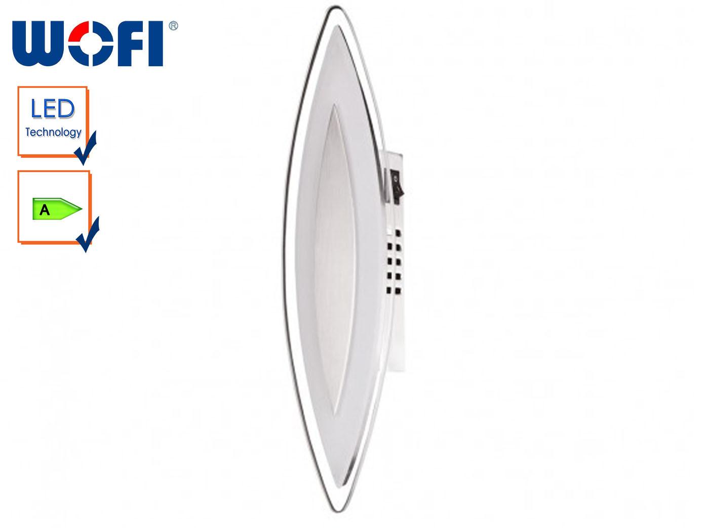 LED-Wandleuchte, satinierte Glasblende, Schalter, Wofi-Leuchten | ein guter Ruf in der Welt